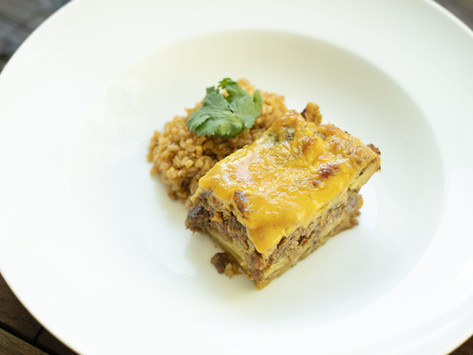 Pastelón de Maduros (Vegetarian version)