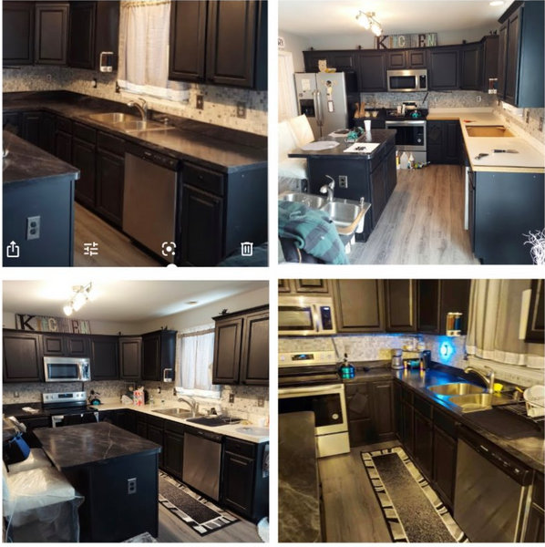 kitchen counter top remodel