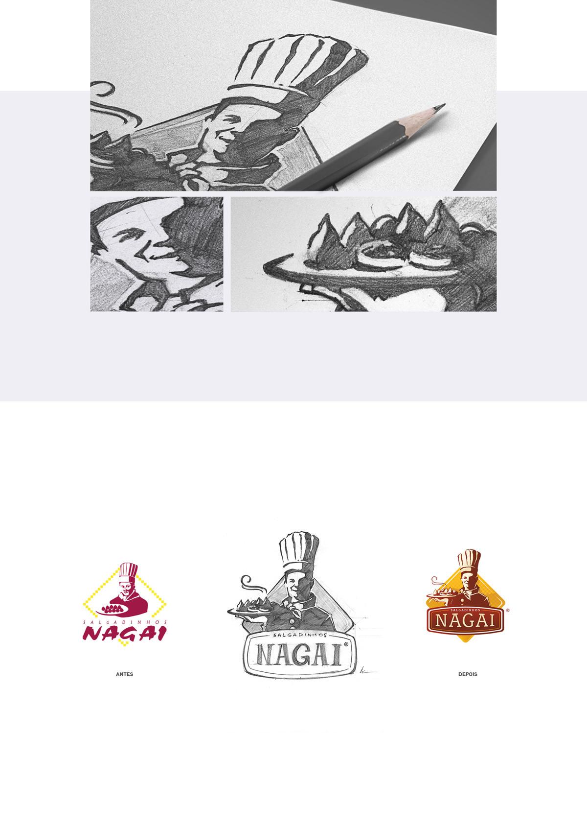 Nagai ilustração sketch esboço