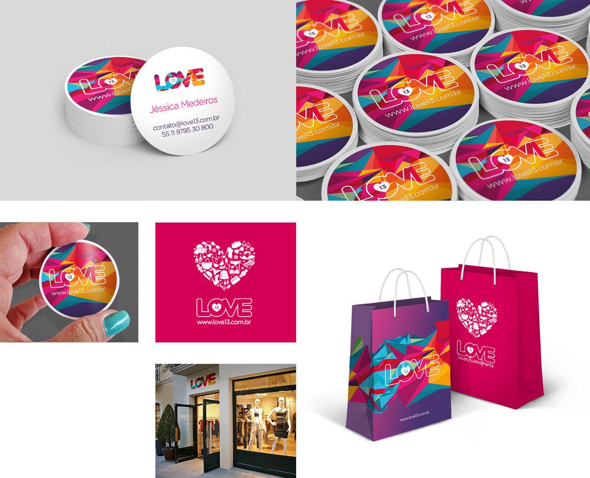 Love 13 branding