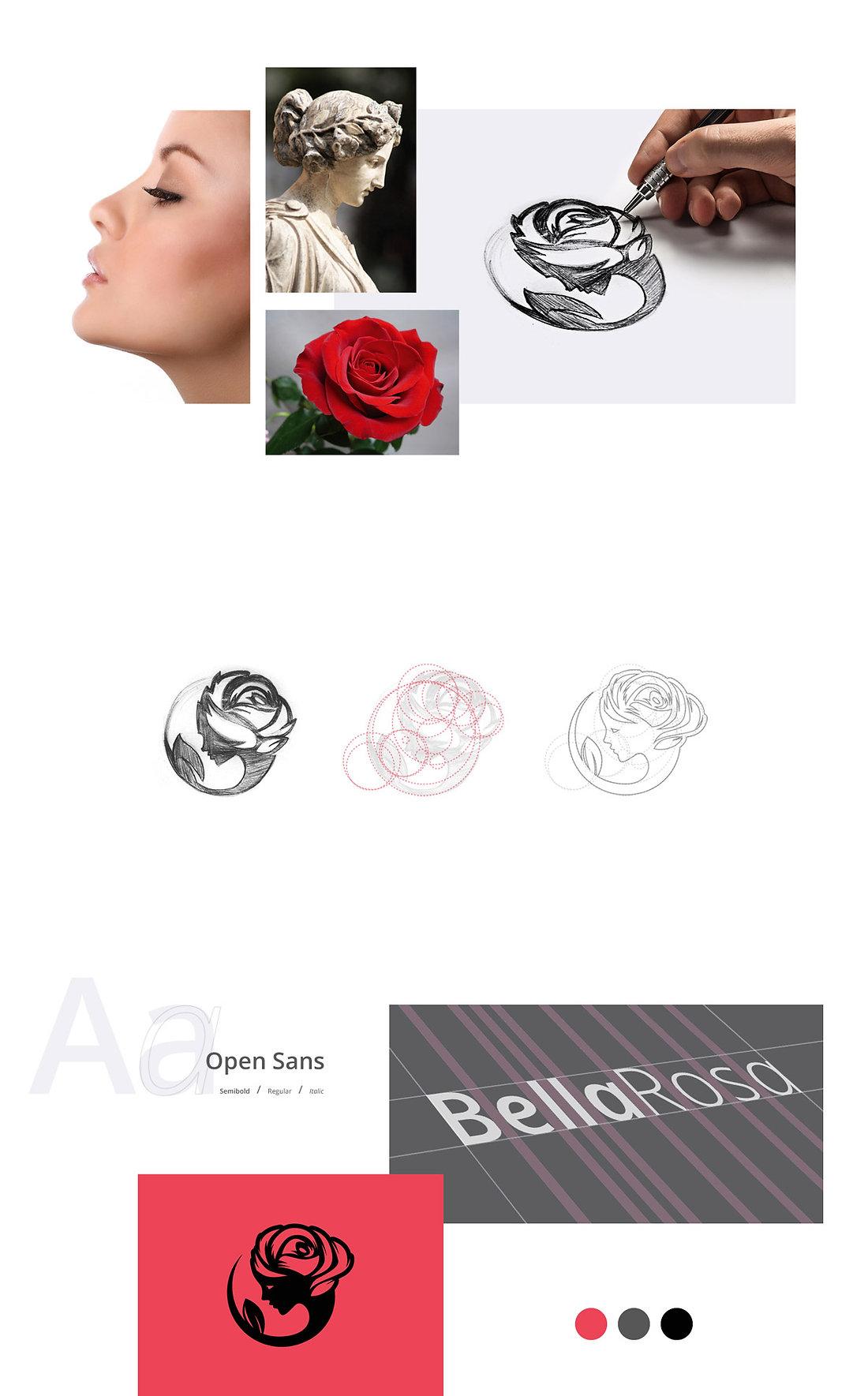 Bella Rosa desenho da marca