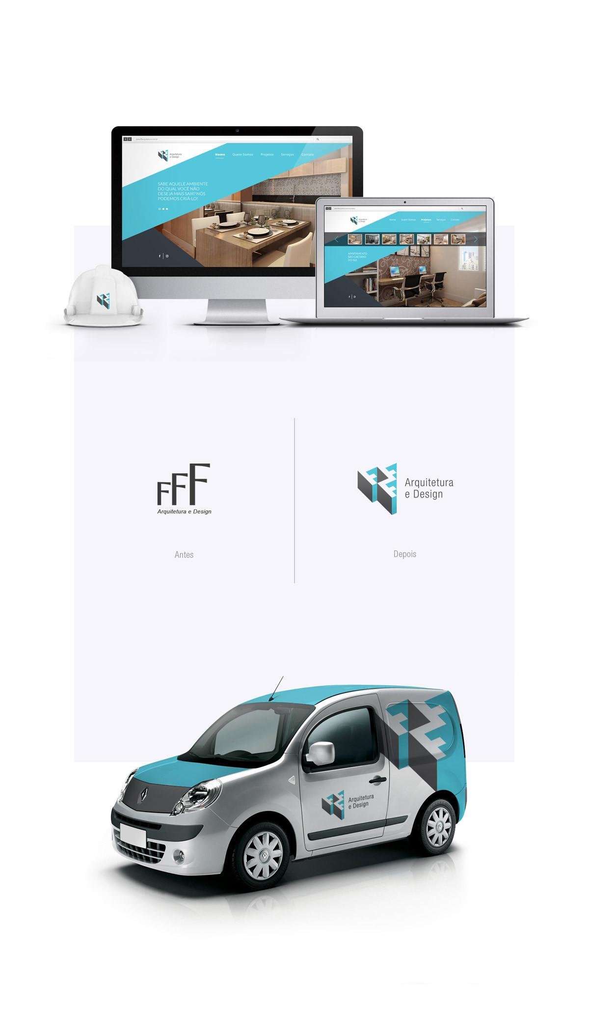 Redesign de marca FFF Arquitetura
