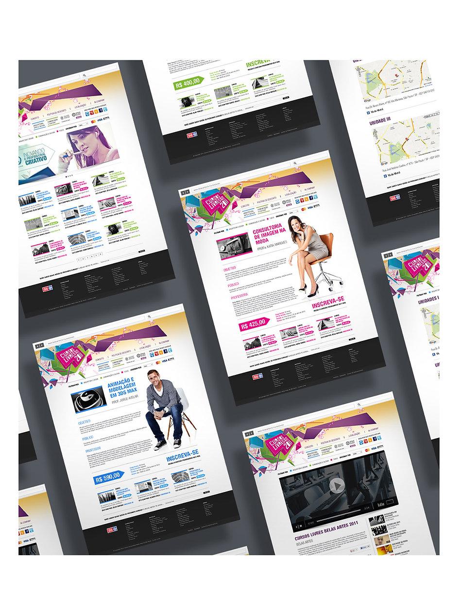 Cursos Livres Belas Artes website