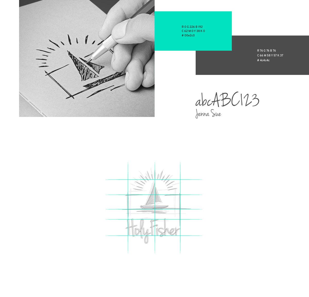 Holyfisher desenho da marca