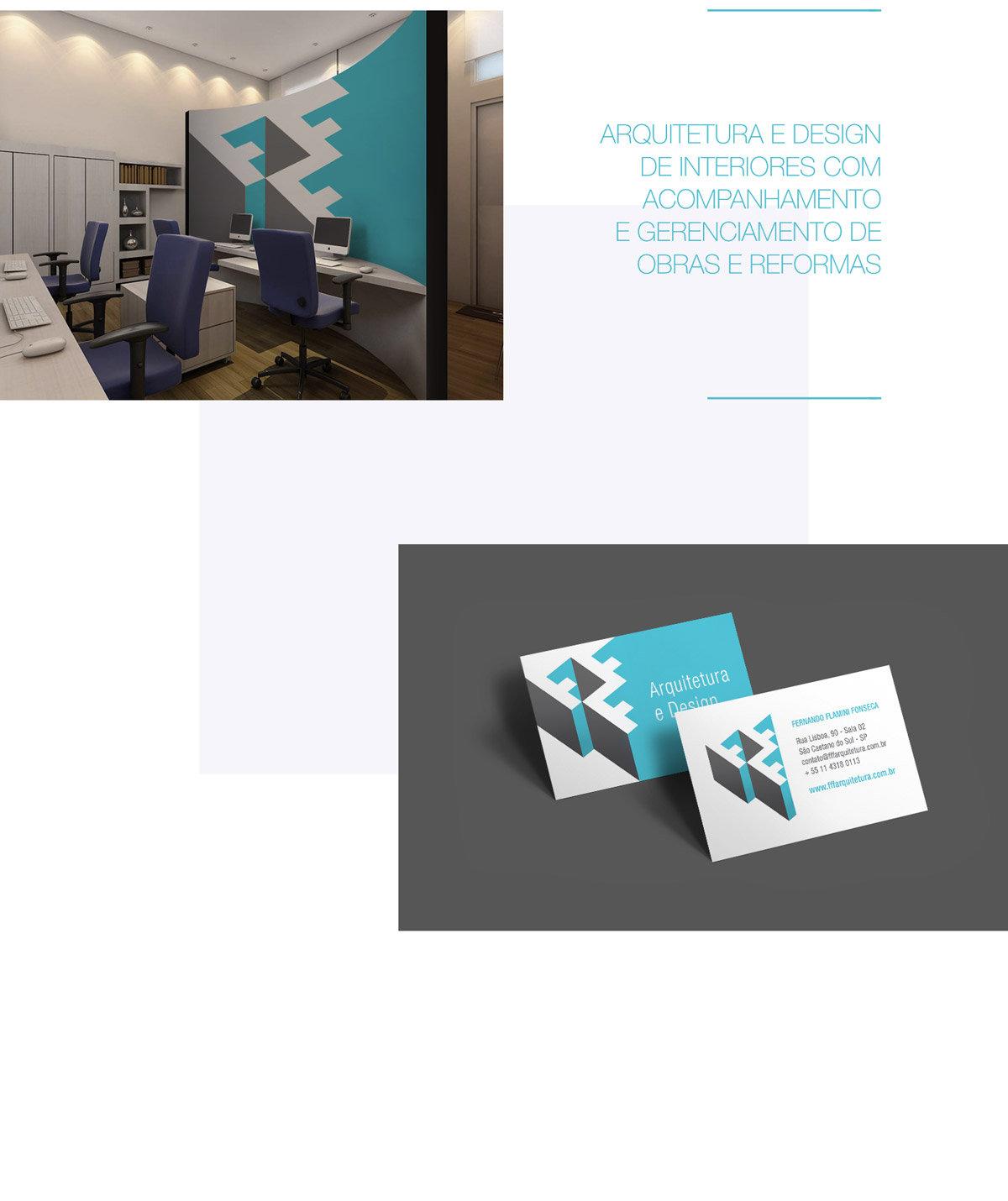FFF Arquitetura de marca cartão de visita