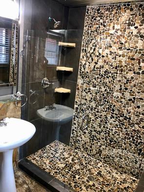 Shower in Main Cabin