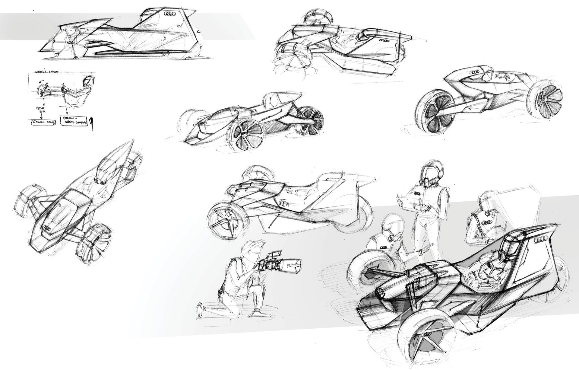 Audi Man-Powered Electric Vehicle