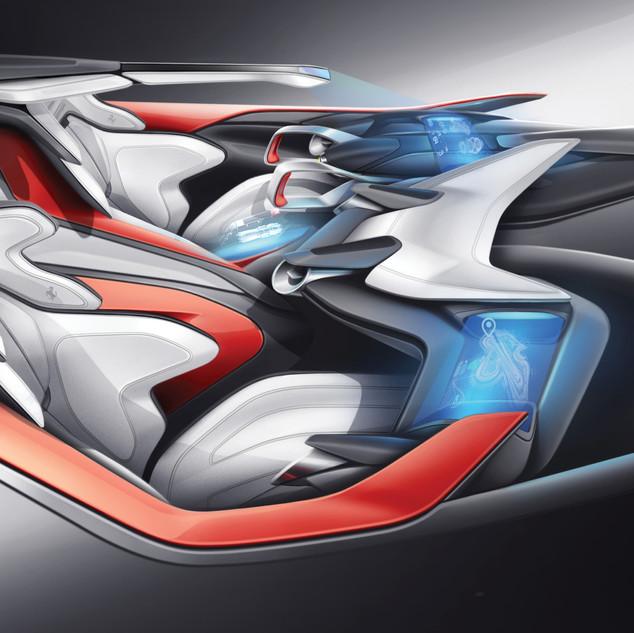 Ferrari Sportscar Interior Concept