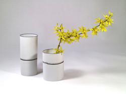 White porcelain translucent vessels.
