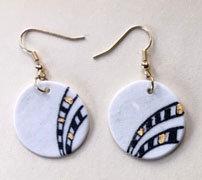 5624 - Porcelain earrings