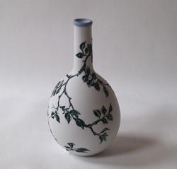 Rose decoration on porcelain