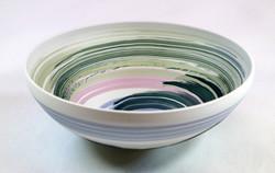 porcelain vessel, soluble salt colours