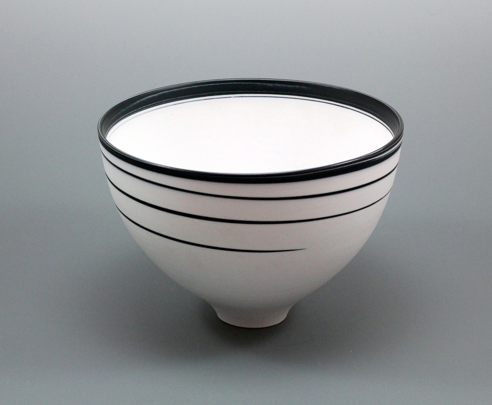 porcelain black and white bowl
