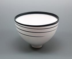 porcelain black and white bowl