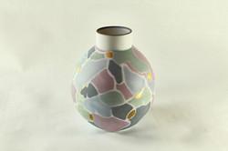 multicolor and gold porcelain vase