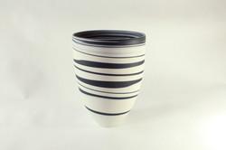 Black and white porcelain vase