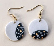 5729 - Porcelain earrings