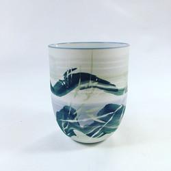 porcelain vessel, soluble salt colours a