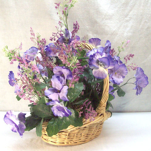 Pansy's in a basket