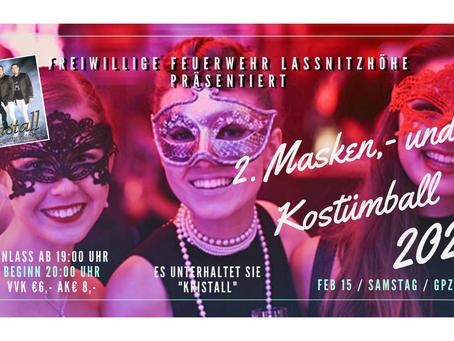 2. Masken,- und Kostümball 15.02.2020 ab 19:00 Uhr