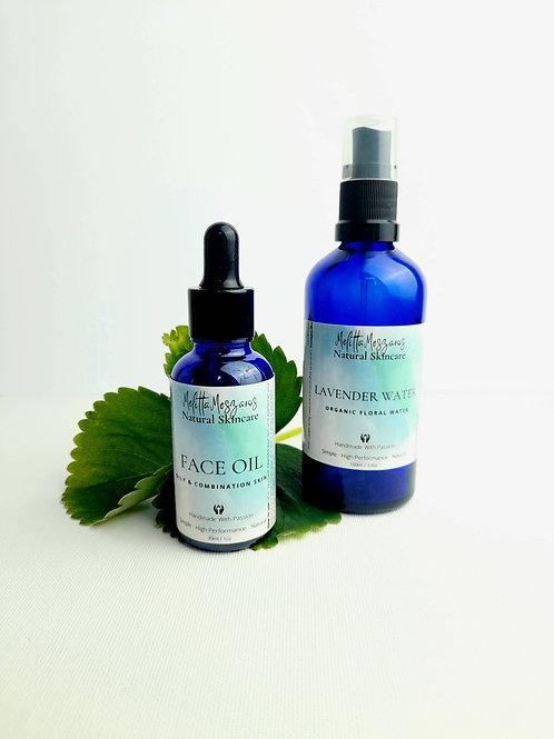 Lavender Floral Water & Face Oil Set