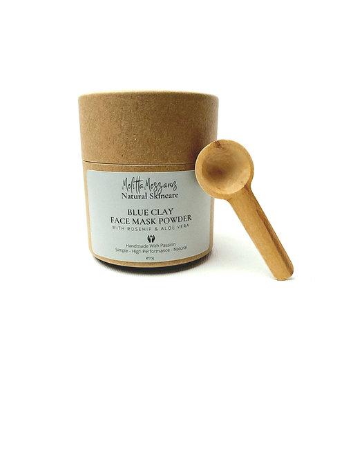Blue Clay Face Mask Powder with Rosehip & Aloe Vera