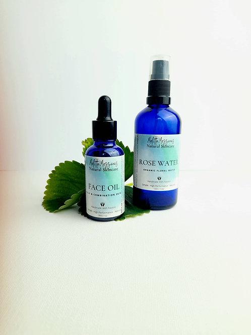Rose Floral Water & Face Oil Set