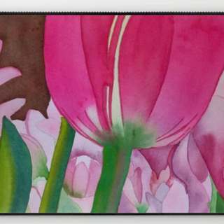 Pink Tulips, Laptop Case