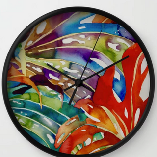 Hawaiian Leaves, Clock