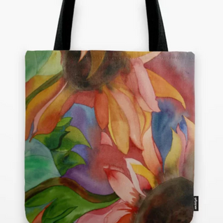 Sunflowers at Sunset, Tote