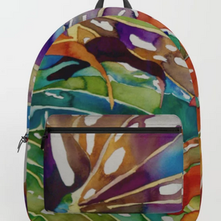 Hawaiian Leaves, backpack