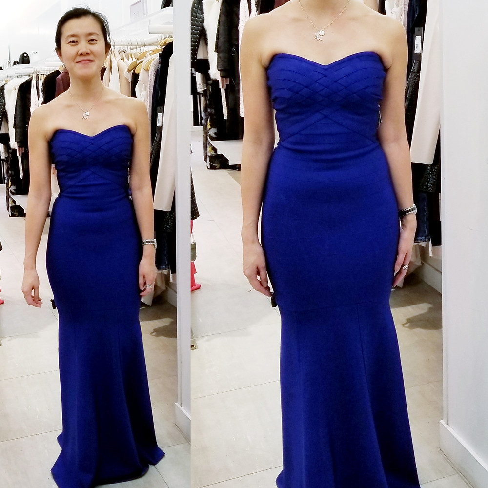 Guess blue bandage gown