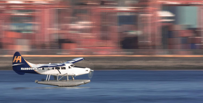 WIX Plane Landing in Coal Harbour