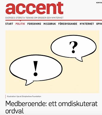 Om begreppet medberoende i tidningen ACCENT