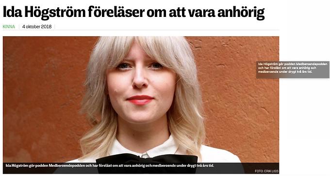 Borås Tidning inför föreläsning i Kinna