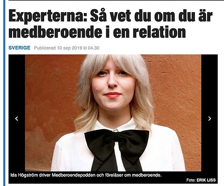 Intervju om medberoende i Expressen