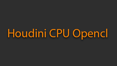 How to switch to CPU Opencl