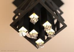 Wooden chandelier