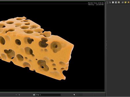 Houdini VDB Swiss Cheese: