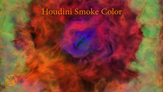 Houdini Smoke Color