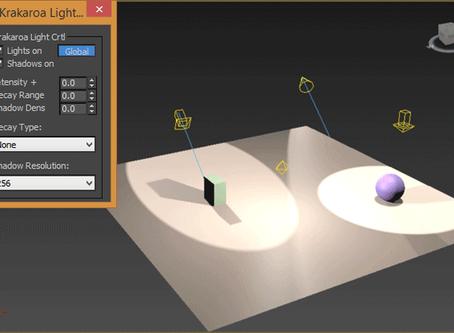 Maxscript  Krakatoa Light Control: