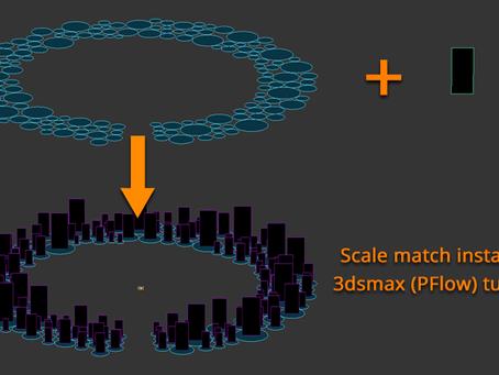 Scale Match Instances (Particle flow tutorial)