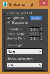 Krakatoa light control (Scripted tool)