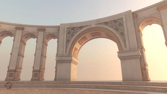 Dubai TV Identity 2018 (Dubai Desert 3D Kaleidoscopes Effect)