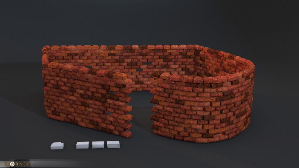 Brick wall builder end part