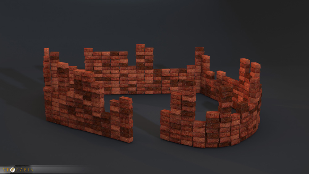 Brick wall builder Random count