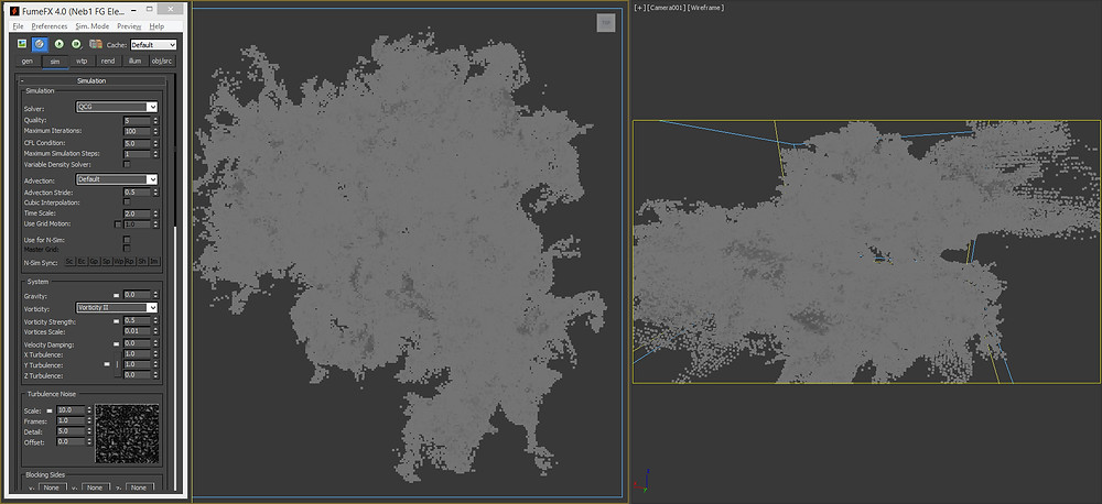Fumefx nebula cloud inside 3ds max viewport