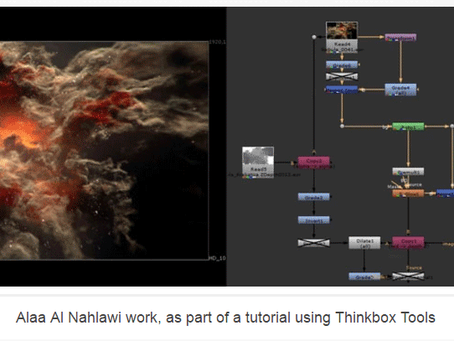 My nebula tutorial was featured on FXGuide interview with Chris Bond from Thinkbox