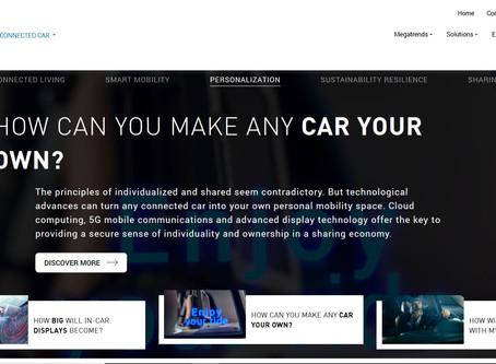 Harman Connected Car website