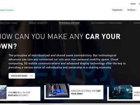 Harman Connected Car website